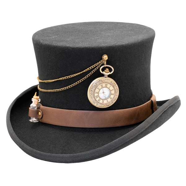 Kenny K | The Time Traveler Steam Punk Wool Felt Top Hat | Hats .