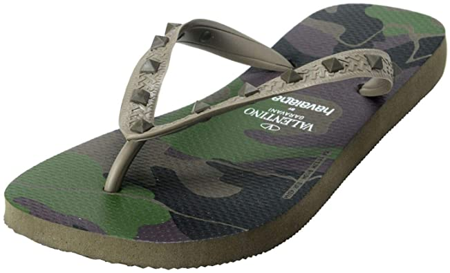 Amazon.com | Valentino by Havaianas Women's Rockstud Camouflage .