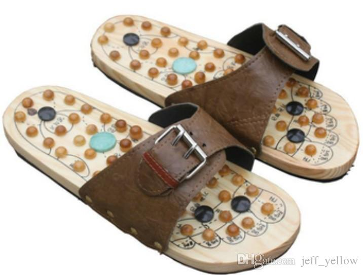 Wooden Slippers Reflexology Shoes Acupuncture Health Shoes Home .