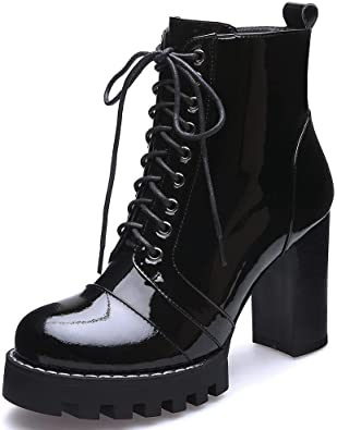 Amazon.com | SaraIris Shoes for Women Ankle Boots - Retro Block .