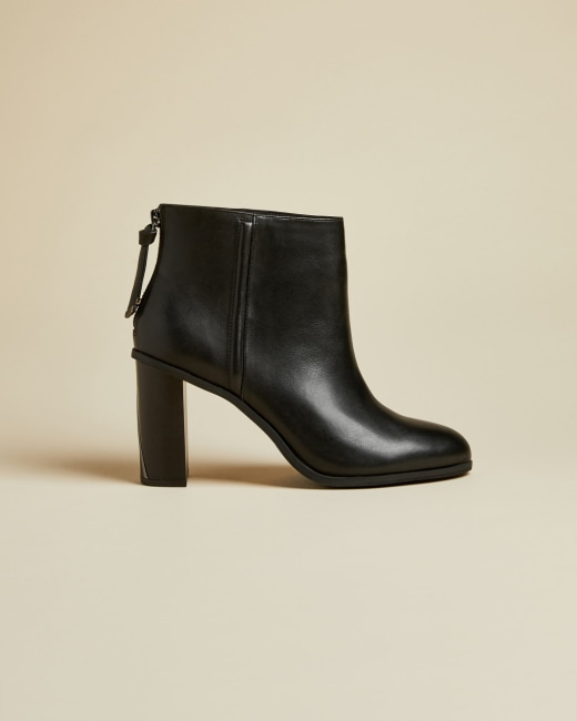 Leather block heel ankle boots - Black | Womens Bestsellers | Ted .