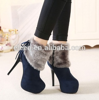 Winter Fur Sexy High Heel Ankle Boots For Women - Buy High Heel .