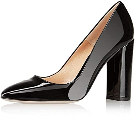 Amazon.com | Fericzot Pumps Women Sexy Patent Leather Pointed Toe .