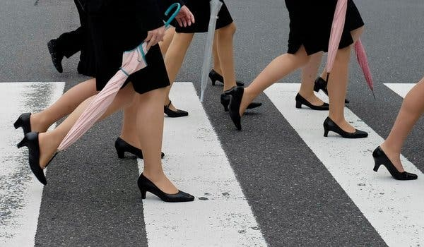 Japanese Women Want a Law Against Mandatory Heels at Work - The .