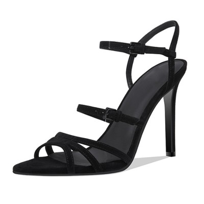 Heel Sandals for Women, Cross Lacing High-heeled Shoes with .