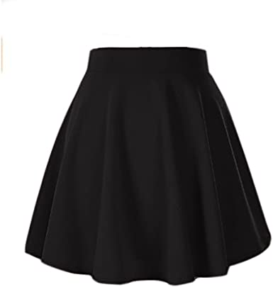 Amazon.com: Moxeay High Waisted Skirt for Women Stretch Pleated .