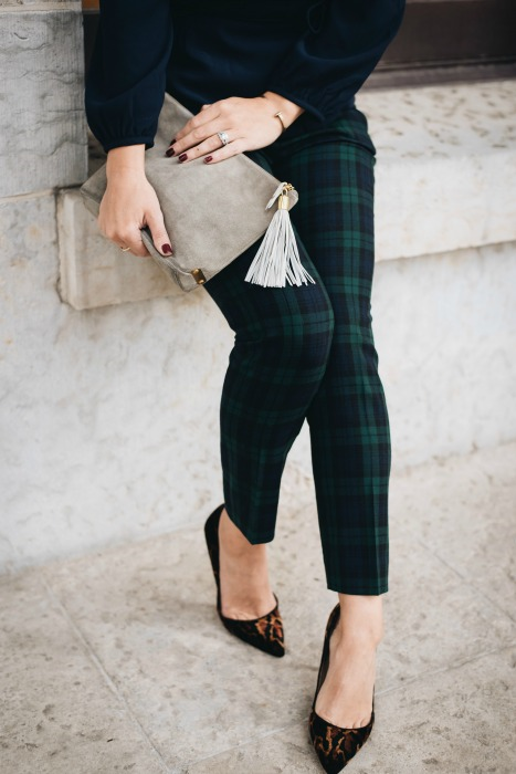 Holiday Party Outfit / Plaid Pants | Winter pants fashion, Winter .