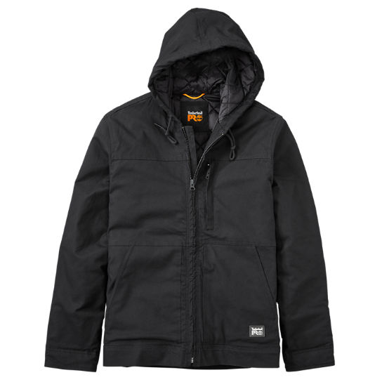 Men's Timberland PRO® Baluster Hooded Insulated Canvas Work Jacket .
