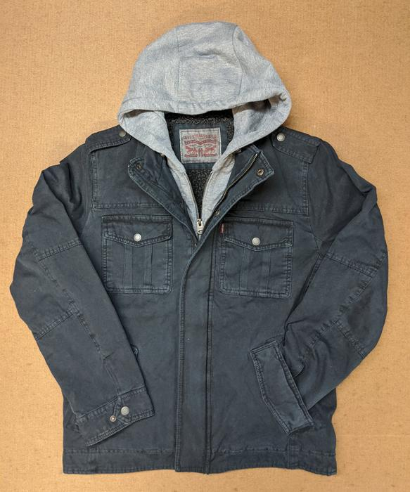 Levi's Men's Military Style Hooded Jacket - Navy — Dave's New Yo