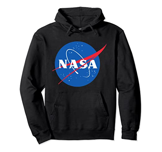 Amazon.com: Official NASA Logo Pullover Hoodie: Clothi