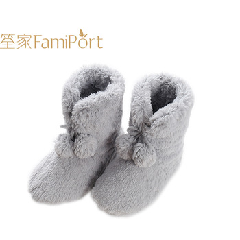 Custom Winter Slipper Grey Ladies House Designer Ankle Boots Women .
