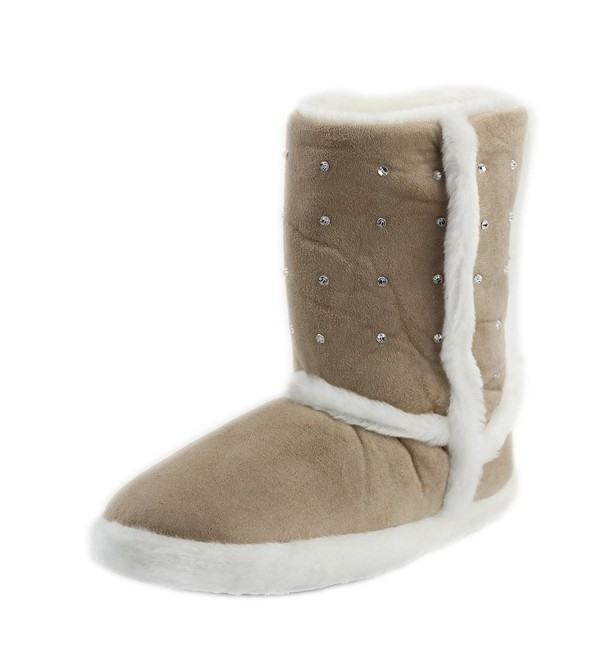 Women's Warm Winter Indoor Slipper Boots House - 2beige - C6129MMTK