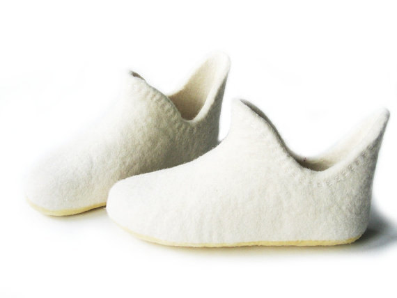Wedding Shoes Gift-Womens White Shoe-White Women Home Slippers .