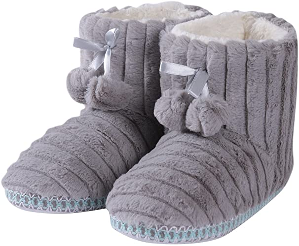 Amazon.com | Forfoot Winter Slippers Booties for Women, Cozy .