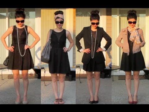 10 Ways to Style The Little Black Dress - YouTu