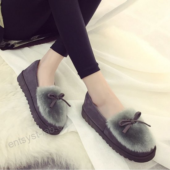Clothing, Shoes & Accessories Slippers Women's Winter Warm Fur .