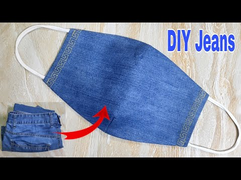DIY Face Mask Tutorial From Jeans | Reuse Old Clothes | DIY Jeans .