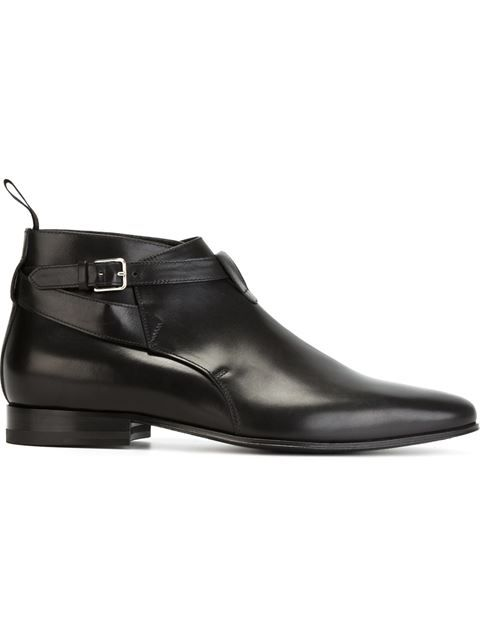 Shop Saint Laurent 'Jodhpur' ankle boots in Bonvicini from the .