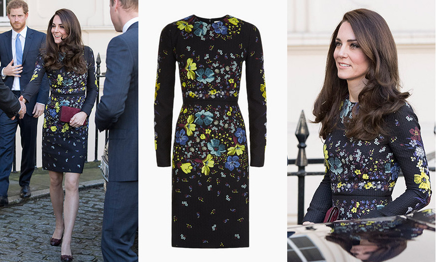 Kate Middleton looks ready for spring in Erdem at Heads Together .