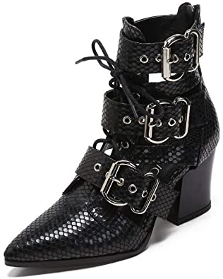 Amazon.com | MACKIN J 546-2 Women's Pointed Toe Ankle Boots Lace .