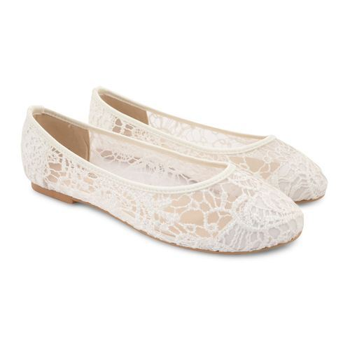 Lace ballerinas for women