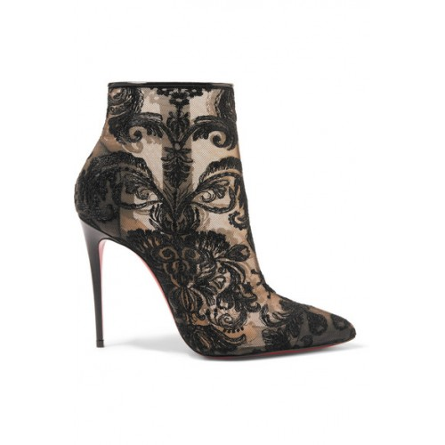 Christian Louboutin Gipsy 100 guipure lace ankle boots Women's .