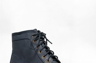 NEW BRECKELLES Women Lace Up Combat Military Ankle Boots sz Navy .