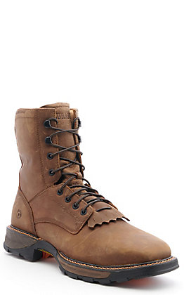 Durango Men's Maverick Russet Brown Waterproof Wide Square Steel .