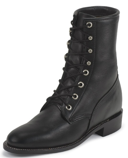 Justin L0516 Ladies Classic Lace-Up Boot with Black Chester .