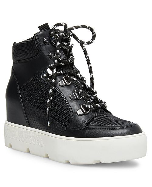 Madden Girl Negan Lace-Up Hiker Wedge Sneakers & Reviews .