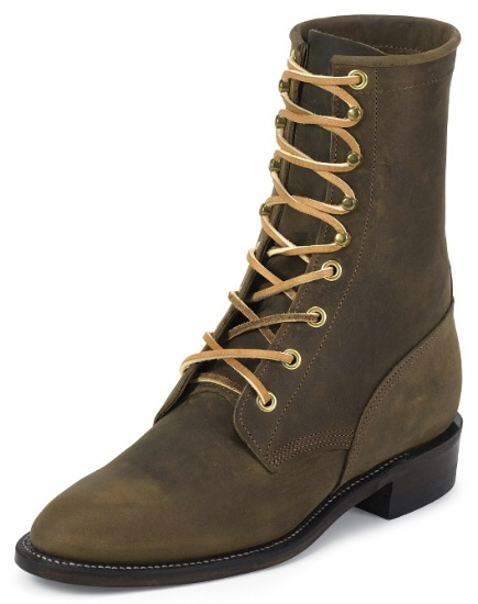 Justin L0555 Ladies Classic Lace-Up Boot with Bay Apache .