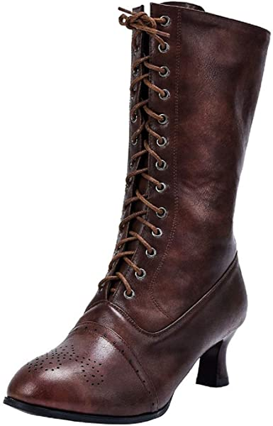 Amazon.com: Tsmile Women Lace Up Boots Classic Vintage Fashion .