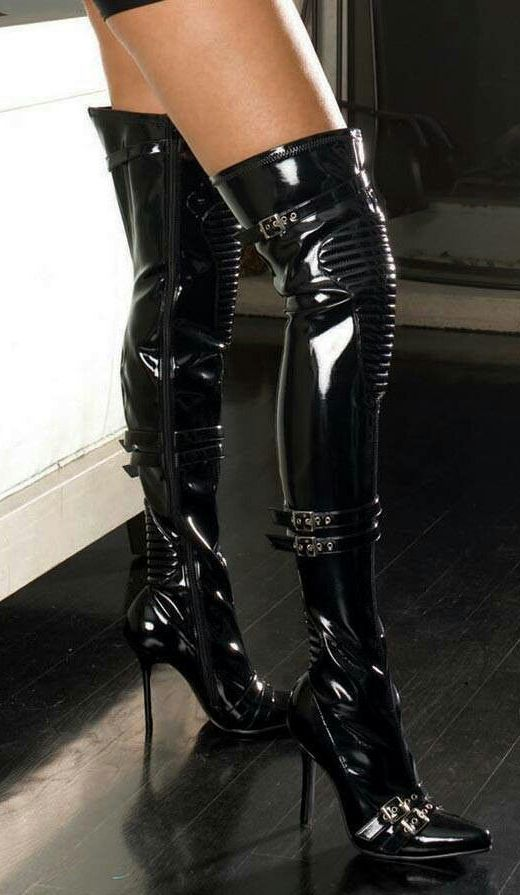 Latex boots for women