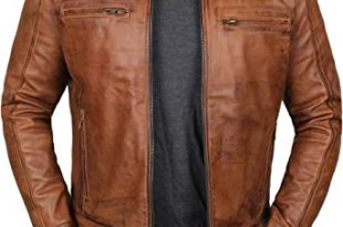 Brown Leather Jacket Men - Real Lambskin Mens Leather Jackets at .