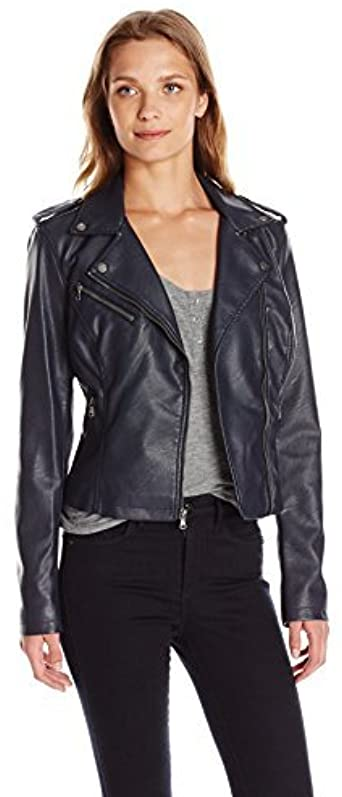 Levi's Women's Faux Leather Classic Asymmetrical Motorcycle Jacket .