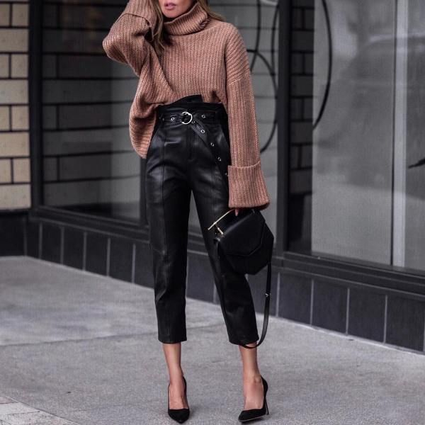 76 Winter Clubbing Outfits | Leather pants outfit night, Leather .