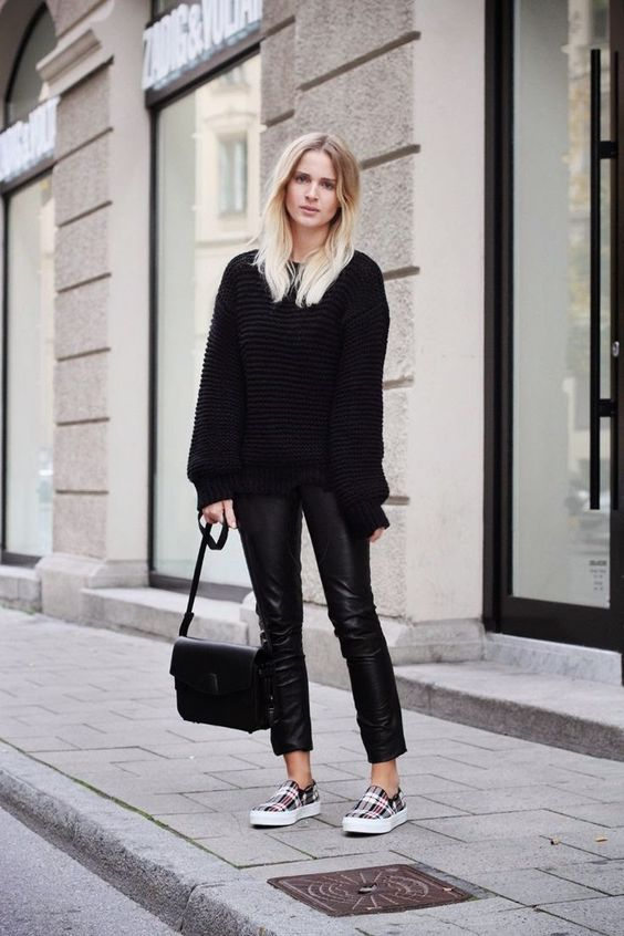 15 Winter Outfits With Cropped Leather Pants - Styleohol