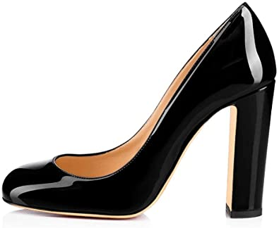 Leather pumps for women