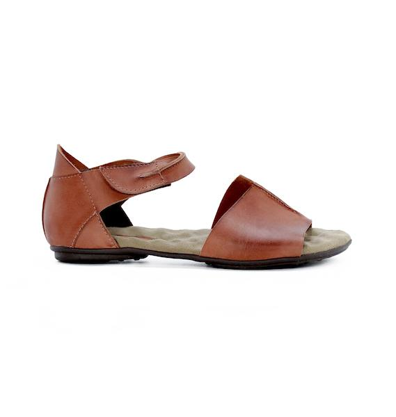Gladiator Women's Sandals | Brown Leather Sandals for Women - DE WU