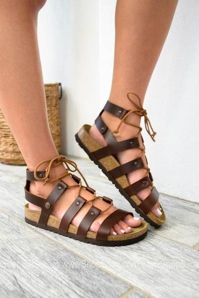 Cleo Cognac Leather Sandal | Papillio by Birkenstock | Leather .