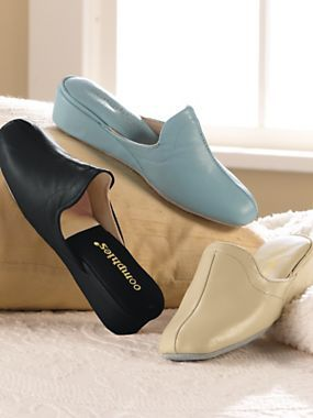 Start and end your day in these butter-soft Leather House Slippers .