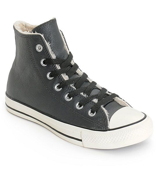 Converse Womens Chuck Taylor All Star Black Leather Shoes | Zumiez .