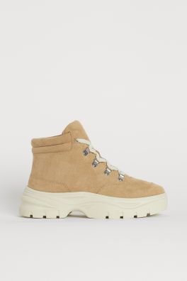 Faux Shearling-lined Boots - Beige - Ladies | H&M US in 2020 .