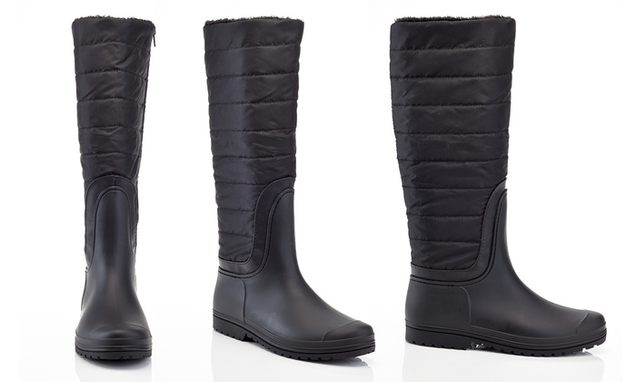 Lined winter boots for women