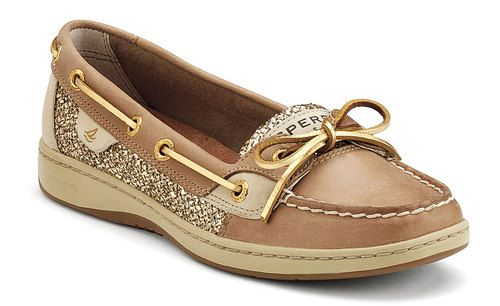 LADIES Sperry Topsider ANGELFISH LINEN/GOLD GLITTER ITEM 9101759 .