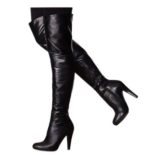 Black Ladies Leather Long Boot, Box, Rs 3800 /pair Design Creation .