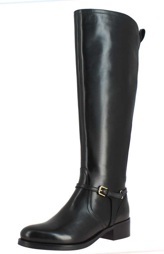 Saint G Womens Black Leather Long Boots, Womens Boots, Knee Length .