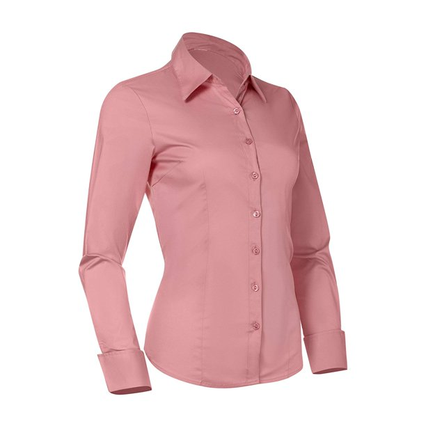 Pier 17 - Button Down Shirts for Women, Fitted Long Sleeve .