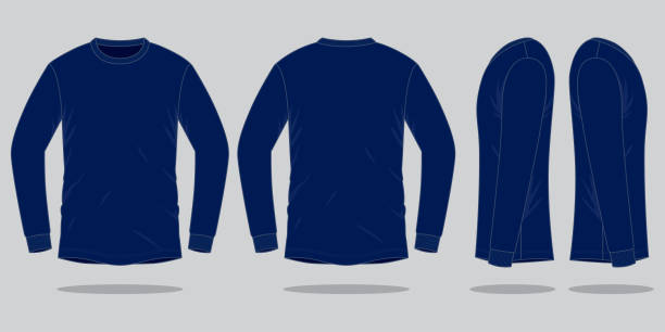 930 Long Sleeve T Shirt Template Illustrations, Royalty-Free .