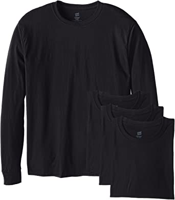 Hanes Men's Long-Sleeve ComfortSoft T-Shirt (Pack of 4) | Amazon.c